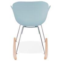 Design-Schaukelstuhl KNEBEL Kunststoff blau