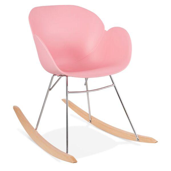 Design-Schaukelstuhl KNEBEL Kunststoff rosa