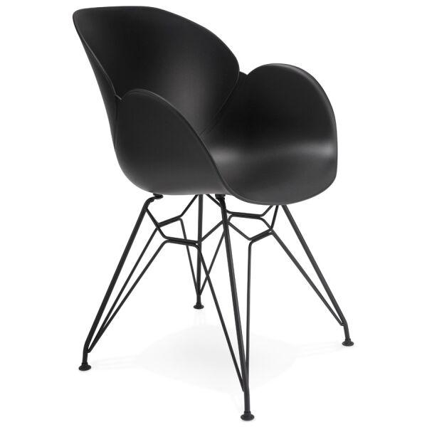 Design-Stuhl UMELA Kunststoff schwarz