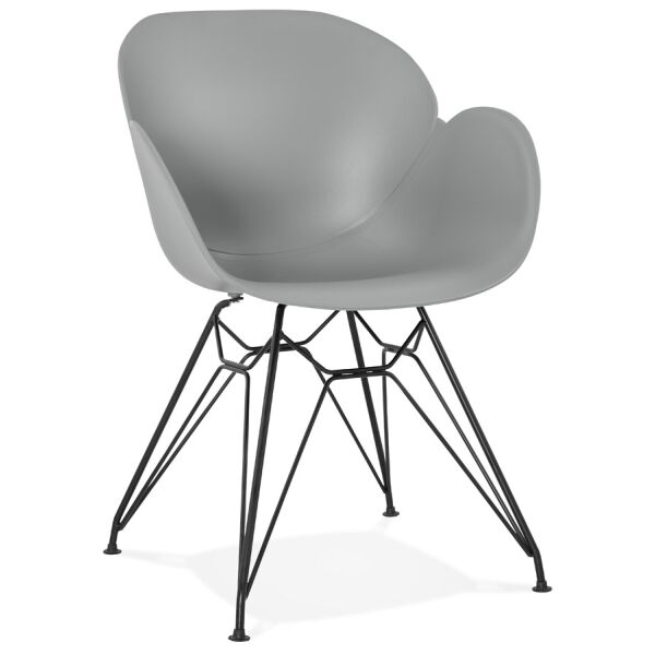 Design-Stuhl UMELA Kunststoff grau