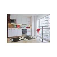 Küchenläufer Kitchen Schwarz/Weiß 80x200 cm
