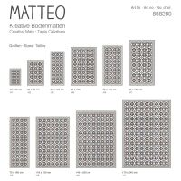 Vinyl Teppich MATTEO Fliesen blau