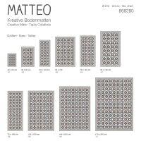 Vinyl Teppich MATTEO Fliesen blau 50 x 120 cm