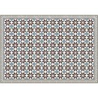 Vinyl Teppich MATTEO Fliesen blau 140 x 200 cm