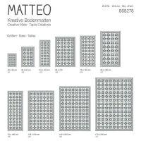 Vinyl Teppich MATTEO Fliesen grau 70 x 140 cm