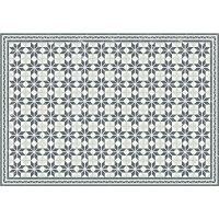 Vinyl Teppich MATTEO Fliesen grau 140 x 200 cm