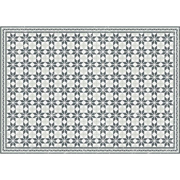 Vinyl Teppich MATTEO Fliesen grau 170 x 240 cm