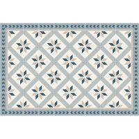 Vinyl Teppich MATTEO Fliesen 1 blau 60 x 90 cm
