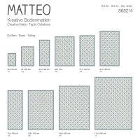 Vinyl Teppich MATTEO Fliesen 1 blau 70 x 140 cm
