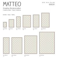 Vinyl Teppich MATTEO Fliesen 1 gelb 60 x 90 cm