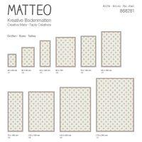 Vinyl Teppich MATTEO Fliesen 1 gelb 140 x 200 cm