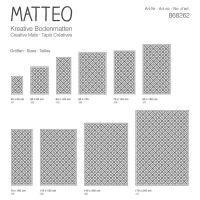 Vinyl Teppich MATTEO Fliesen 1 grau 70 x 140 cm