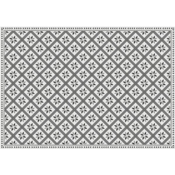Vinyl Teppich MATTEO Fliesen 1 grau 140 x 200 cm