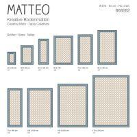 Vinyl Teppich MATTEO Fliesen 2 blau/creme