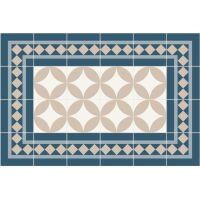 Vinyl Teppich MATTEO Fliesen 2 blau 40 x 60 cm