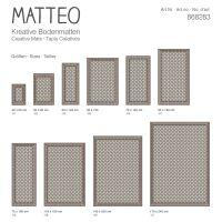 Vinyl Teppich MATTEO Fliesen 2 braun 90 x 135 cm