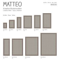 Vinyl Teppich MATTEO Fliesen 2 braun 90 x 160 cm