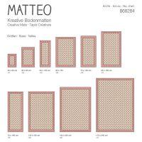 Vinyl Teppich MATTEO Fliesen 2 Orange/Creme