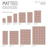 Vinyl Teppich MATTEO Fliesen 7 Rot