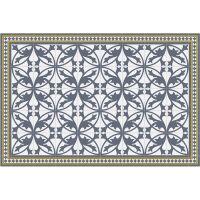 Vinyl Teppich MATTEO Fliesen 7 Blau