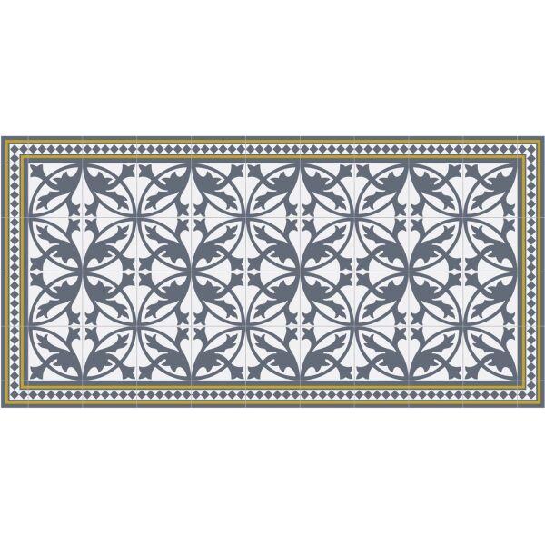 Vinyl Teppich MATTEO Fliesen 7 Blau 70 x 140 cm