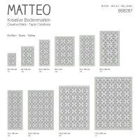 Vinyl Teppich MATTEO Fliesen 7 Grün