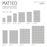 Vinyl Teppich MATTEO Fliesen 7 Grün 140 x 200 cm