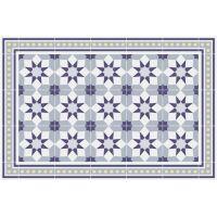 Vinyl Teppich MATTEO Fliesen 6 Blau 40 x 60 cm