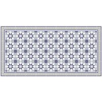 Vinyl Teppich MATTEO Fliesen 6 Blau 70 x 140 cm