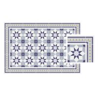 Vinyl Teppich MATTEO Fliesen 6 Blau 170 x 240 cm