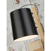 Stehlampe Cambridge schwarz mit Bücherablage