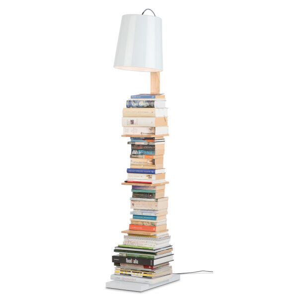 Stehlampe Cambridge weiß  mit Bücherablage