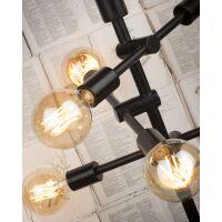Tischlampe aus Eisen NASHVILLE 3-arm, schwarz
