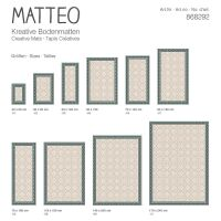 Vinyl Teppich MATTEO Fliesen 8 Grün 50 x 120 cm