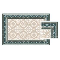 Vinyl Teppich MATTEO Fliesen 8 Grün 90 x 160 cm