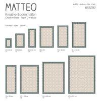 Vinyl Teppich MATTEO Fliesen 8 Grün 140 x 200 cm