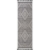 Teppich Laila Schwarz 80x240 cm
