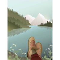 AFTER THE HIKE Poster 30x40 cm