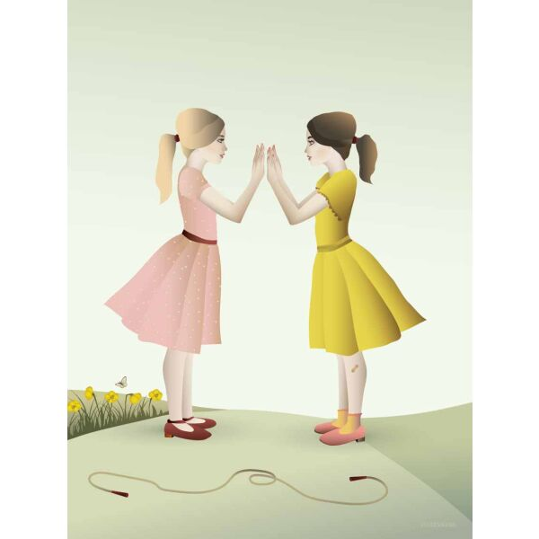 HAND-CLAPPING GIRLS Poster