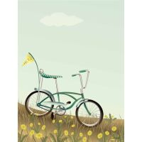 BIKE WITH A FLAG Poster 30x40 cm