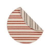 Wendeteppich rund Terrazzo Beige/Rot ø 120 cm rund