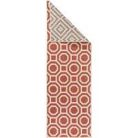 Wendeteppich Läufer Terrazzo Beige/Rot 80x240 cm