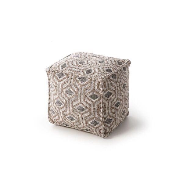 Pouf Palma Taupe 50x50x50 cm