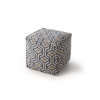 Pouf Palma Blau/Gelb 50x50x50 cm
