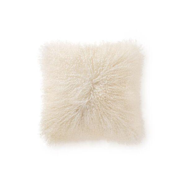 Langhaar-Schafsfell Kissenbezug Wilson Weiß 40x40 cm