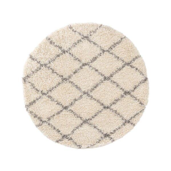 Hochflorteppich Soho Cream ø 120 cm rund