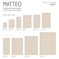 Vinyl Teppich MATTEO Fliesen 6 orange 50 x 120 cm