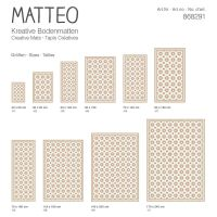 Vinyl Teppich MATTEO Fliesen 6 orange 90 x 160 cm