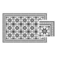 Vinyl Teppich MATTEO Fliesen grau 50 x 120 cm
