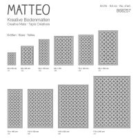 Vinyl Teppich MATTEO Fliesen grau 70 x 180 cm